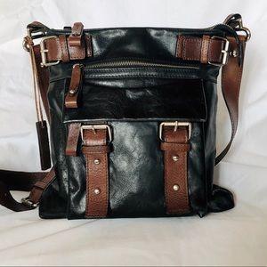 d5199f9af3cc Italian Leather Tano Crossbody Bag